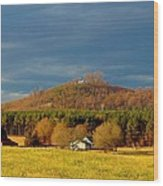 Mountain In North Carolina Wood Print