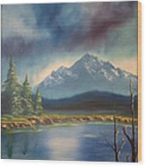 Mountain Lake Wood Print