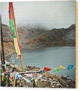 Mountain Lake Gosaikunda Himalayas Wood Print