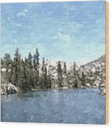 Mountain Lake Retreat Wood Print