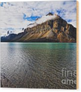 Mountain Lake Scenic Wood Print