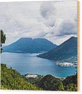 Mountain Lakes In Guatemala Wood Print