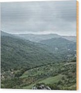 Mountain Landscape Of Italy Wood Print