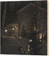 Mountain Lodge Wood Print