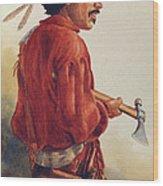 Mountain Man Wood Print by Randy Follis