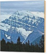 Mountain Meets The Sky Wood Print