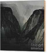 Mountain Mist And Fog Wood Print