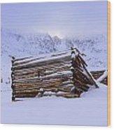 Mountain Mystery Wood Print