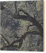 Mountain Oak Wood Print