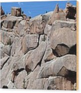 Mountain Of Boulders Wood Print