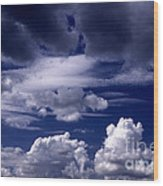 Mountain Of Clouds Wood Print