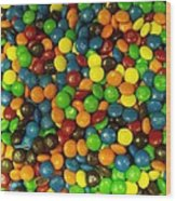 Mountain Of M And M's Wood Print by Anna Villarreal Garbis