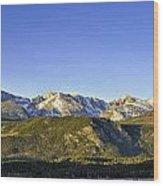 Mountain Panorama Wood Print by Tom Wilbert