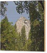Mountain Peak In Yosemite National Park Wood Print