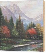 Mountain Peaks Wood Print