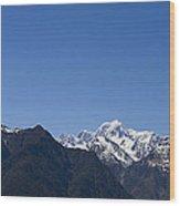 Mountain Profile Wood Print