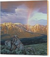 Mountain Rainbow Wood Print