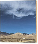 Mountain Range Of Sierra Nevada Wood Print