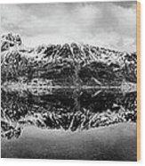 Mountain Reflection Wood Print by Dave Bowman