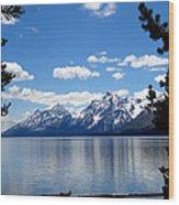 Mountain Reflection On Jenny Lake Wood Print by Dan Sproul