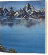 Mountain Ridge Horizon Wood Print by Cynthia Adams