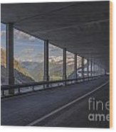 Mountain Road And Tunnel Wood Print