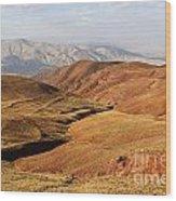 Mountain Scenary Near Zanjan In Iran Wood Print