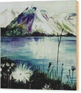 Mountain Serenity Wood Print
