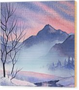 Mountain Silhouette Wood Print