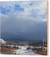 Mountain Snow Coming  Wood Print