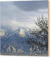 Mountain Snow Storm Wood Print