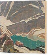 Mountain Solitude Wood Print