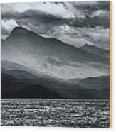Mountain Storm Clouds Wood Print