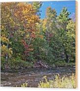 Mountain Stream In Early Autumn Wood Print