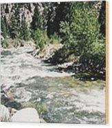 Mountain Stream Scenic Highway 395 California Usa Wood Print