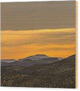 Mountain Sunrise 6-19-14 Wood Print