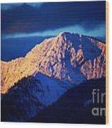 Lizard Range Mountain Sunrise Wood Print