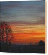 Mountain Sunset 3 Wood Print