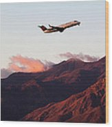 Mountain Takeoff Wood Print