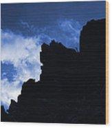 Mountain Tips Wood Print