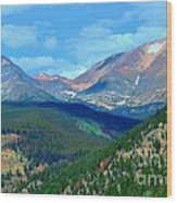 Mountain Top Color Wood Print