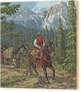 Mountain Traveler Wood Print