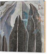 Mountain Trees Wood Print