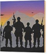Mountain Troop Wood Print