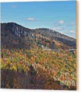 Mountain View From Linn Cove Viaduct Wood Print