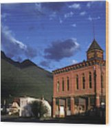 Mountain Village Wood Print