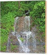 Mountain Waterfall II Wood Print
