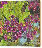 Mountain Wild Flowers Wood Print