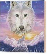 Mountain Wolf Wood Print