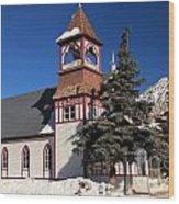 Mountain Worship Wood Print